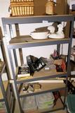 6' high metal utility shelf