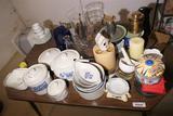 Contents of Table Lot Inc. Vintage, Antique Items