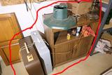 Cabinet, 2 Box Fans, Misc. Items etc Lot
