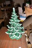 Vintage Ceramic Christmas Tree w/Frosty Edges