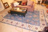Vintage Large Machine Made Area Rug or Carpet