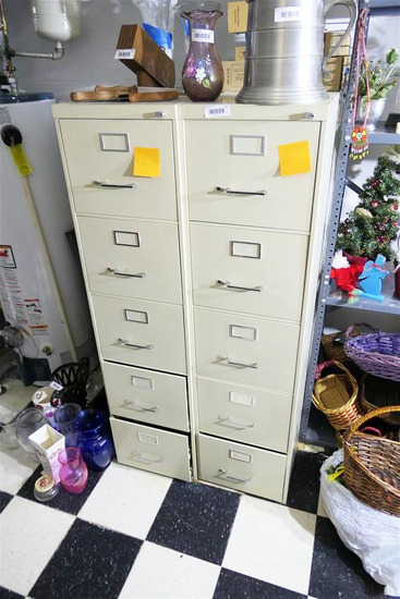 2 Metal File Cabinets