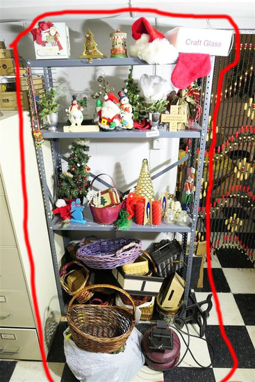Shelf and Contents Inc. Baskets, Holiday etc
