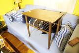 Vintage Mid Century Small Table Tapered Legs