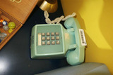 Vintage Blue Green Telephone