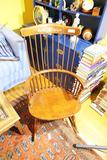 Vintage Wooden Rocking Chair w/Stencil Design