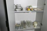 2 Shelves Assorted Glass & China