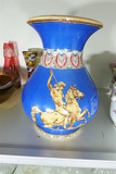 Larger Antique Vase St. Michael Slaying Dragon