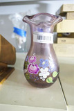 Antique Hand Blown Vase Painted w/Pontil