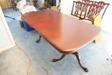 Vintage Mahogany Veneer Dining Room Table