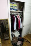 Contents of Closet Lot Inc. Purses, Clothing etc