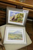 2 Vintage Oil on Board Framed Western Paintings