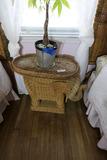 Vintage Wicker Elephant Table