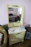 Vintage Dixie Furniture Dresser with Mirror