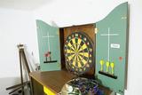 Wall Mounted Dart Board in Wooden Case