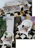 Set of Vintage Wicker Furniture Inc. Room Divider