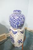 Pair of Decorative Asian Ceramic Pieces Tea Jar