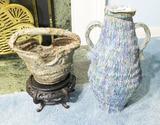 Pair of Studio Art Pottery Vases