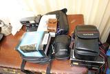 Group Lot VIntage Cameras Mini Binoculars Nice