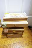 Stack of Vintage Cigar Boxes