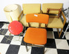 Mid-Century Chairs, Lamp, Stool, Rack Lot