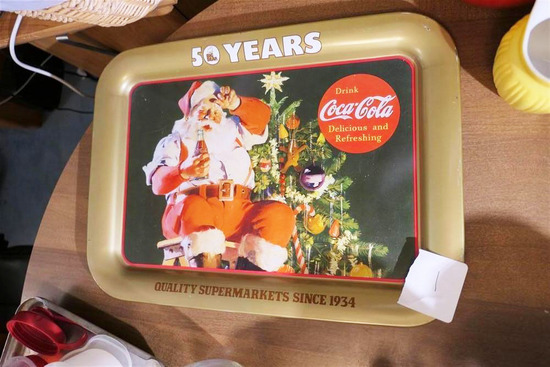 Vintage Big Bear 50 Years Coca Cola tray