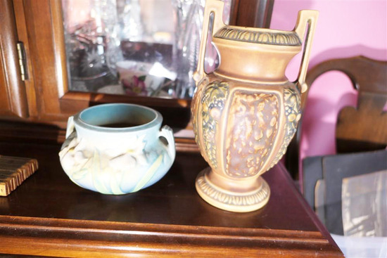 2 Pieces of Antique Roseville art Pottery
