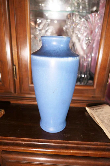 Larger Blue Rookwood art pottery vase 1920