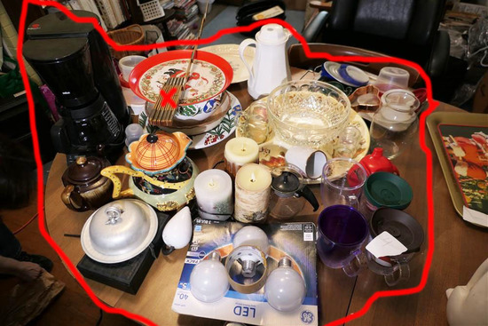 Table Lot assorted Glass & More Items Etc