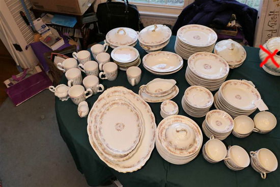 Large Lot Antique Haviland Limoges China Set