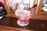 Antique Larger Sized Glass Turkey Candy Container