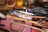 4 Antique Umbrellas Parasols Fancy Handles Carved
