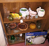 Contents of Shelf Lot - Glass & More