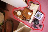 Group Assorted Desk Items & More, Clock, Barometer