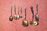 Group Fancier Sterling Silver Pieces c. 1900 113g