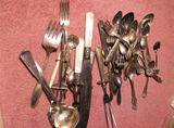 Large Lot Silver Plate Flatware Inc. Souvenir etc