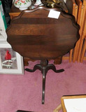 Small Vintage Wooden Tilt Top Table