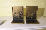 Pair Marked Bradley & Hubbard Bookends Scotty Dogs