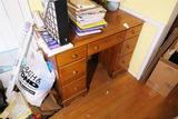 Vintage Maple Wood Desk