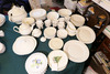 Large Qty Ironstone China + Other Items Milk Glass