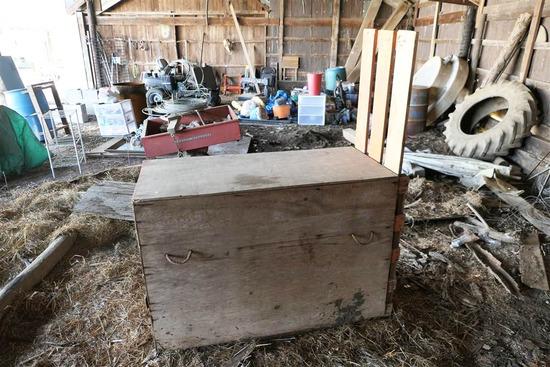 Wooden Calf Box With Lift Door