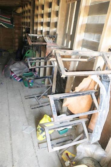 Three Wall Mounted Saddle Racks
