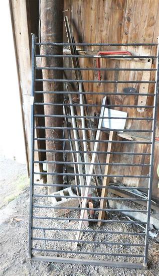Metal Fence Plus Assorted Tools in Corner