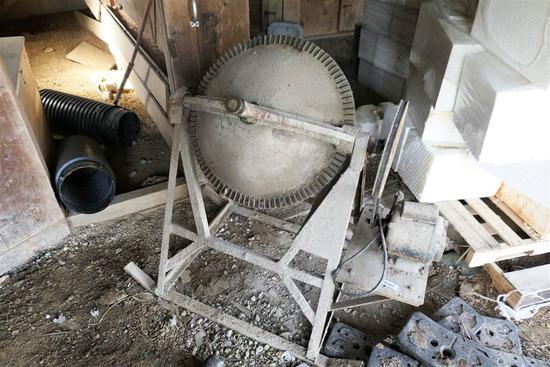 Nice Semi Portable Cement Mixer w/Electric Motor