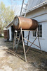 Large Diesel Fuel Tank on Stand 3' x 6'