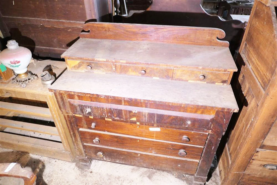 Antique Empire Period Dresser Fancy Backsplash