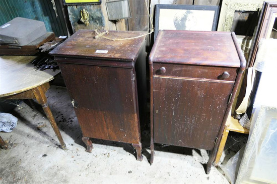 2 Antique Music Cabinets