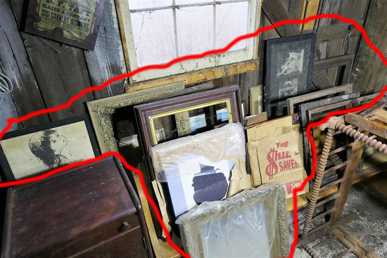 Group Lot of Frames, Pictures along wall