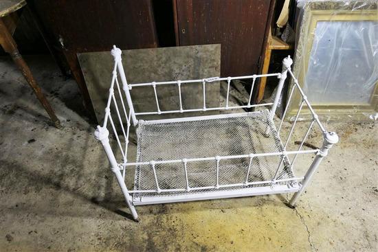 Antique Metal Crib