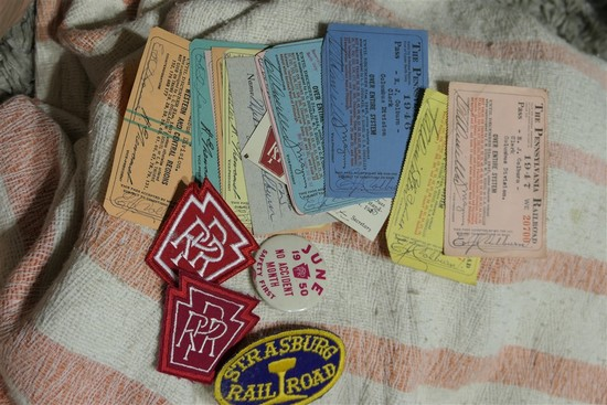Group Lot Various Railroad Paper, Patches PRR